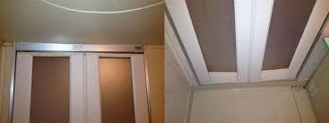 浴室中折ドア修理、交換 名古屋