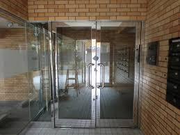 マンションエントランスドア フロアヒンジ修理、交換 名古屋