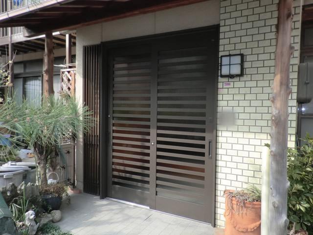 事務所入口ドアのフロアヒンジ取替工事 施工事例 名古屋