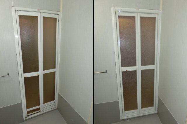 浴室中折れドア取替工事 施工例 刈谷市