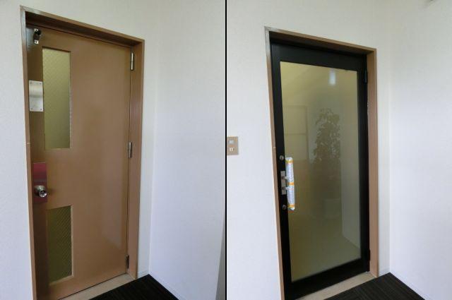 ガラスドアへの取替工事 施工例 名古屋