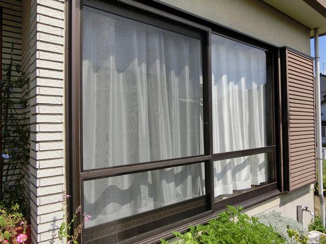 網戸張替え工事 掃出し窓用網戸 施工例 名古屋