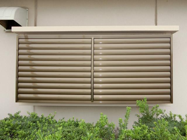窓の防犯対策 目隠し可動ルーバー 施工例 名古屋