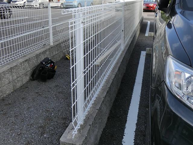 駐車場フェンス取替工事 三協立山ユメッシュG型 施工例 知多郡