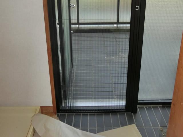 片引き自動ドア取替工事 【施工中】 名古屋市港区