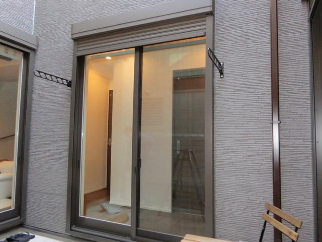 物干し金物取付工事 壁付けタイプ 施工事例 名古屋市熱田区