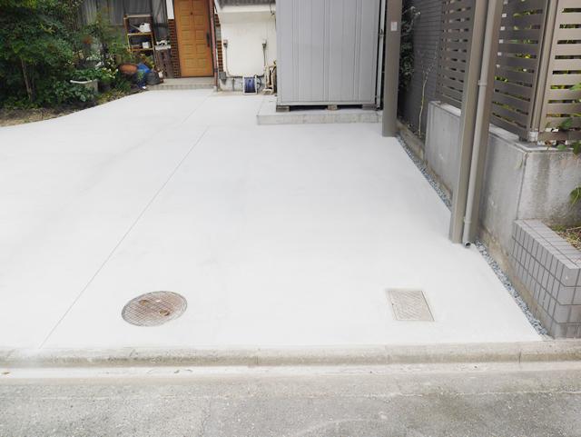 カーポート1台用 LIXIL ネスカFレギュラー 土間コンクリート工事 名古屋市中川区