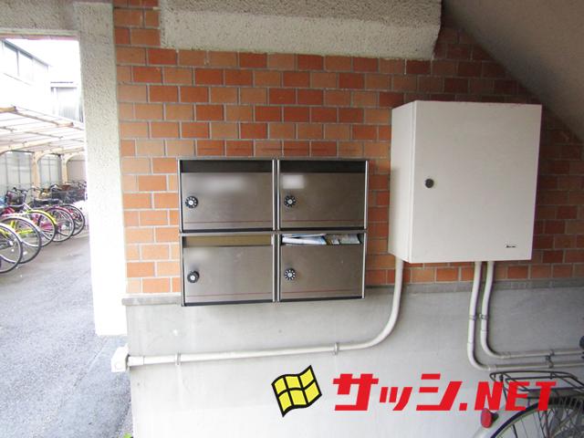 マンションの集合ポスト取替工事 施工事例 春日井