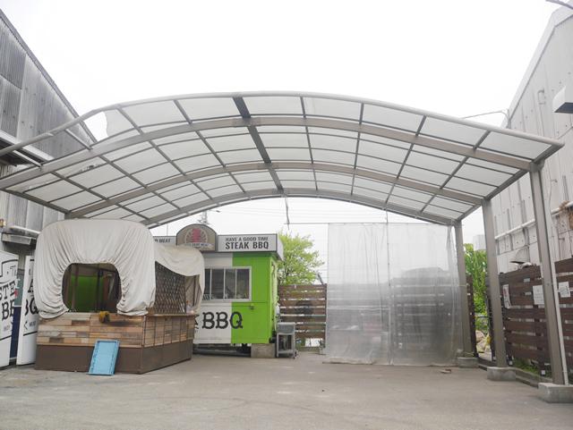 名古屋市緑区 カーポート【三協立山 セルフィ】の取替工事 施工前③