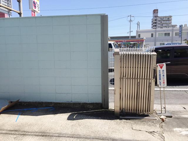 名古屋市緑区 N社様 カーブミラー取付工事 施工前