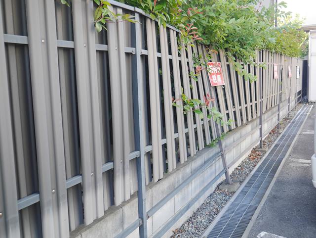 東海市 K様邸 目隠しフェンス【三協 ニューアイシャノン2型】施工前