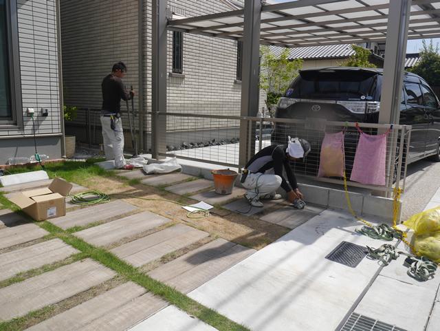 名古屋市緑区 三協立山 マイリッシュOK カーポート工事 施工前