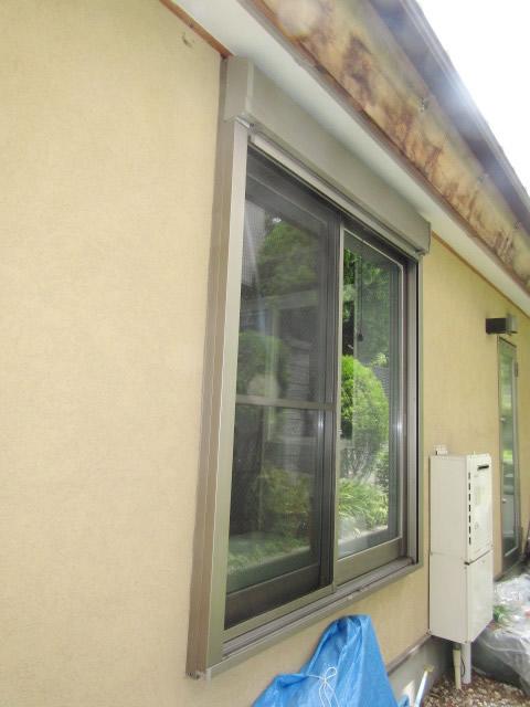 名古屋市昭和区 アルミ面格子 ヒシクロス 取付工事 施工前