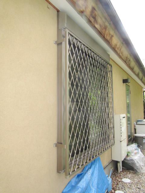 名古屋市昭和区 アルミ面格子 ヒシクロス 取付工事 施工後