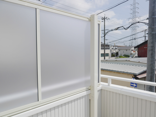 名古屋市天白区 LIXIL スピーネ2階ベランダ目隠し工事 施工後②