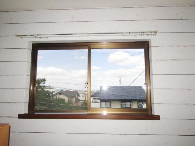 名古屋市天白区 内窓プラストKR型 2枚引違い ホワイト W1204 H706 施工前