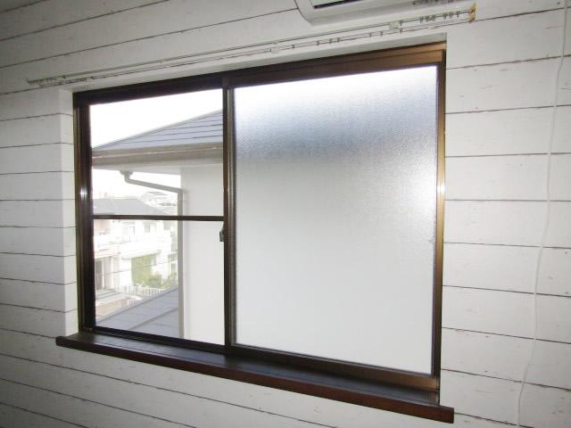 名古屋市天白区 内窓プラストKR型 2枚引違い ホワイト W1659 H1160 施工前