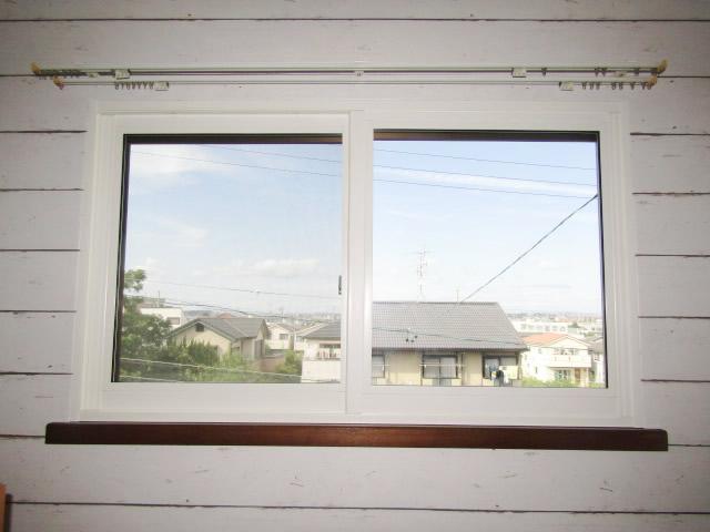 名古屋市天白区 内窓プラストKR型 2枚引違い ホワイト W1204 H706 施工後