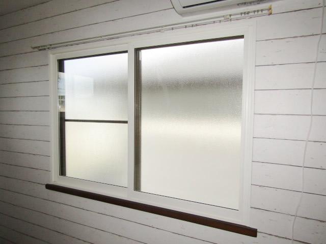 名古屋市天白区 内窓プラストKR型 2枚引違い ホワイト W1659 H1160 施工後