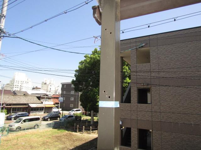 名古屋市中川区 屋外物干し 上下可動タイプ 取付工事 施工前