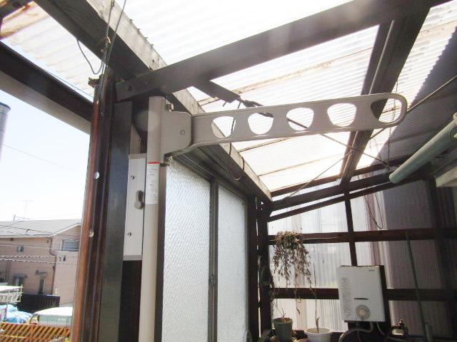 名古屋市中川区 屋外物干し 上下可動タイプ 取付工事 施工後