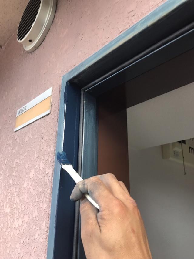 名古屋市北区 玄関ドア取替工事 施工中