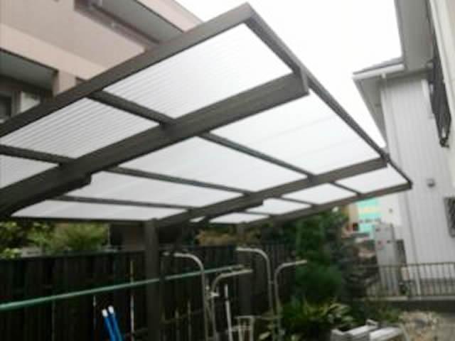 名古屋市西区 カーポート 波板屋根 張替工事 施工後