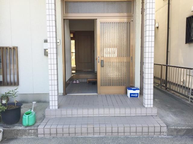 名古屋市港区 LIXIL ガードウォカー 手摺り取付工事 施工前