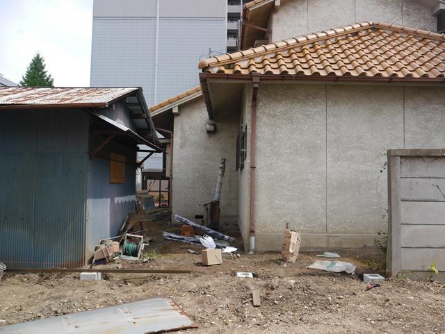 名古屋市東区 LIXIL プレスタフェンス8型 ブラック 設置工事 施工前