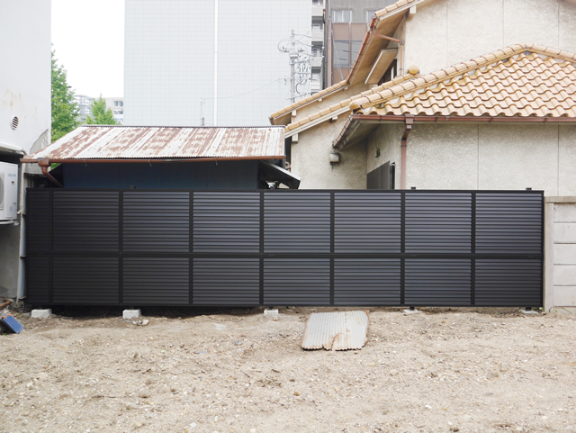 名古屋市東区 LIXIL プレスタフェンス8型 ブラック 設置工事 施工後