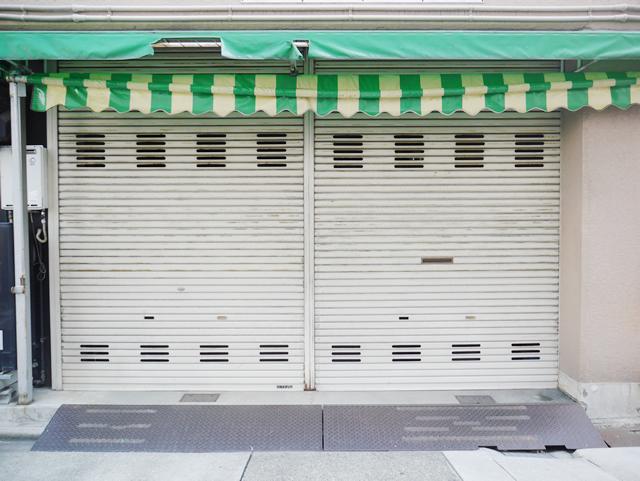 名古屋市中村区 三和シャッター 軽量手動シャッター取替 施工前
