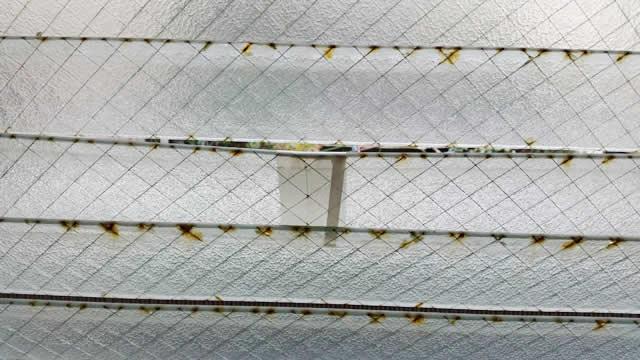 名古屋市南区 某風呂場 ガラスルーバー交換、ガラス交換 施工前