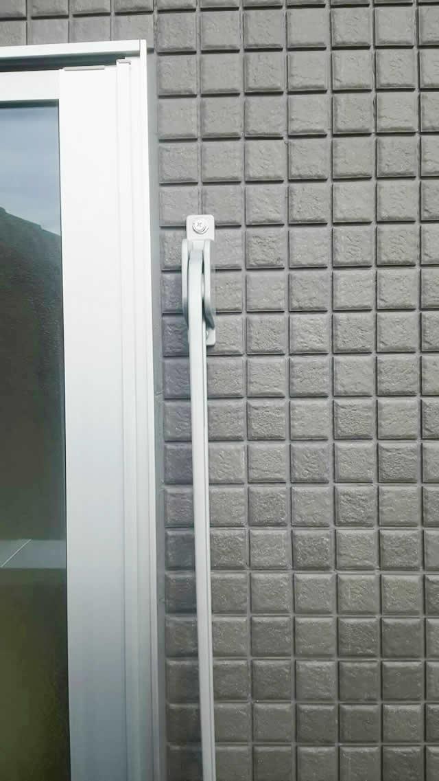 豊明市 トステム 壁付け物干し ロングタイプ 角度調整可 ナチュラルシルバー 取付工事 施工後