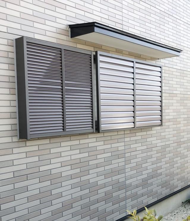 名古屋市緑区 リクシル 目隠しセキュリティフィルター80 取付工事 施工前
