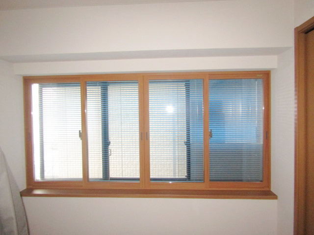 名古屋市千種区 リクシル 内窓インプラス 引違い4枚建 取付工事 施工後