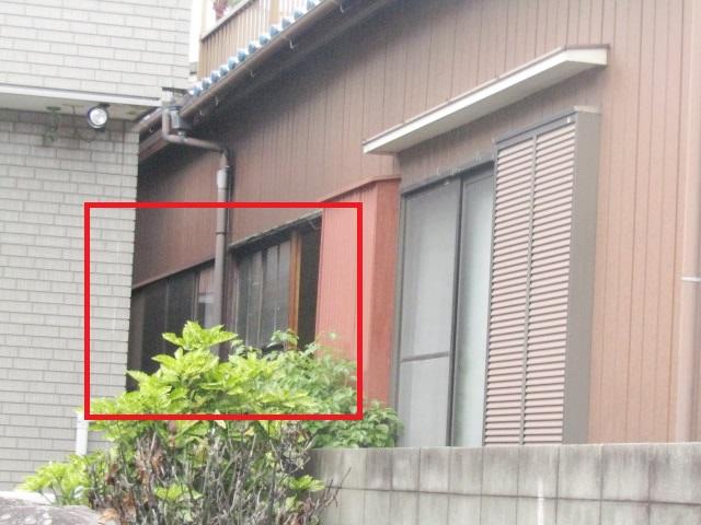 名古屋市港区 木製サッシ→アルミサッシ リクシル 内付RSⅡ PG障子 4枚建 施工前