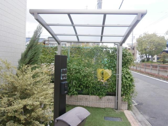 名古屋市南区 サイクルポート リクシル フーゴRミニ 18-22型 新設工事 施工後