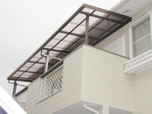 名古屋市中川区 ベランダ テラス波板屋根 張り替え工事 施工後