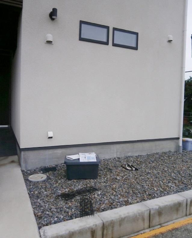 名古屋市千種区 サイクルポート新設 フーゴFミニ 土間打ち工事 施工前
