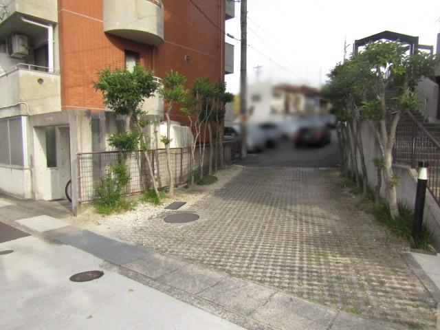 名古屋市天白区 カーブミラー設置工事 施工前