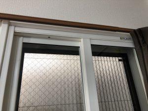 施工後、メーカー名.大信工業 製品 プラスト PBS型とKR型 12:02 ガラスは日本板硝子製 防音合わせガラス ソノグラスを使用
