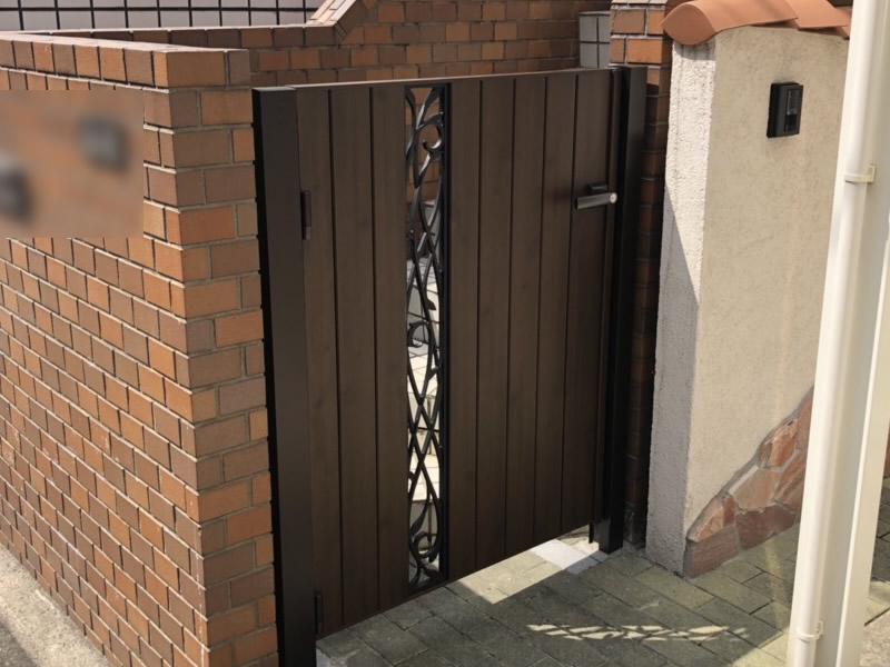 名古屋市西区にて門扉取替え工事を行いました!