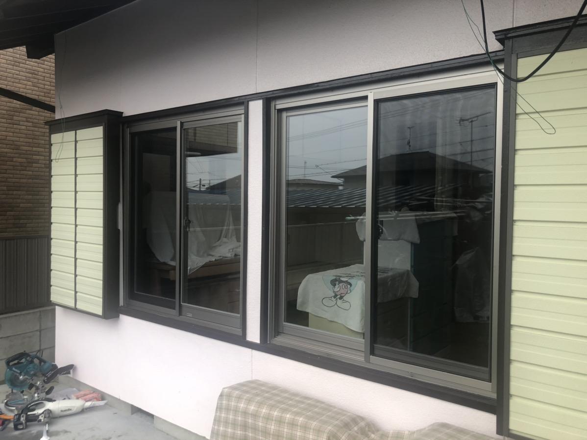 愛知郡東郷町 窓のリフォーム サッシカバー工法 リクシルATU PG仕様に取替工事