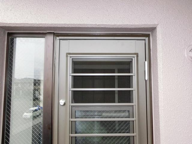 リクシル勝手口ドアリシェント 採風ドア 施工事例 名古屋市中川区
