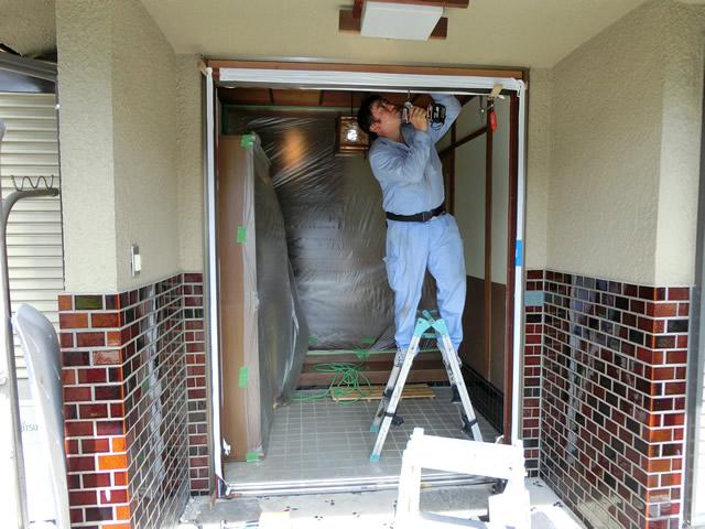 玄関引戸のリフォーム工事 LIXILリシェント 施工事例 名古屋市中川区