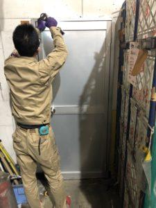 名古屋市中川区カバー工法によるドア施工