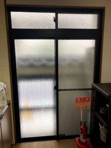名古屋市ドアリフォーム工事 引き違いの窓サッシをやめて玄関引戸に