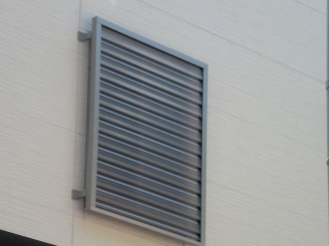 窓に目隠しルーバーの取付け 名古屋市