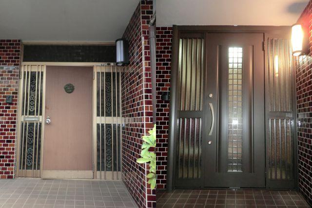 玄関ドアのリフォーム トステム製リシェント 名古屋市