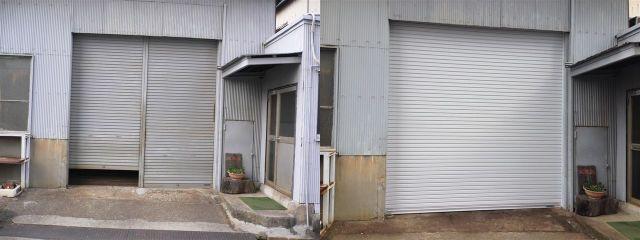 電動軽量シャッター取替え工事 名古屋市